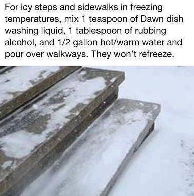 Can you melt sidewalk ice with Dawn Dish Soap?