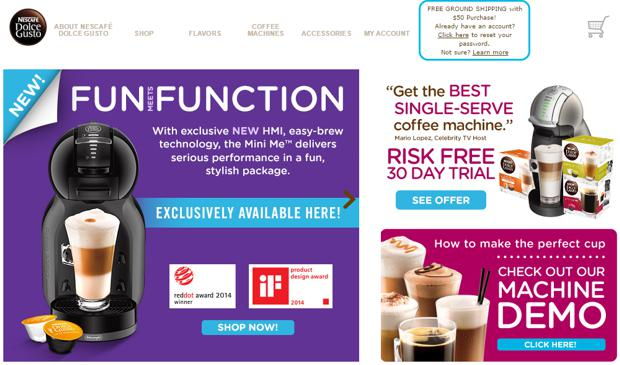 dolce gusto website