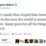 Paris Hilton Responds to Fake Mandela Tweet