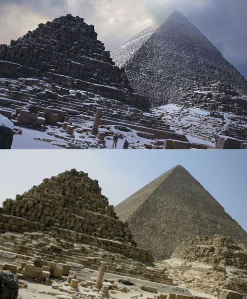 snow on the pyramids