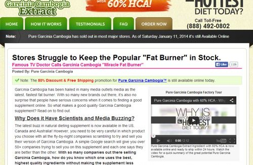 Some garcinia cambogia extract vendors break break all of our rules of thumb for finding a reputable vendor.