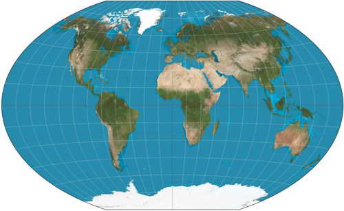 Winkel tripel map projection