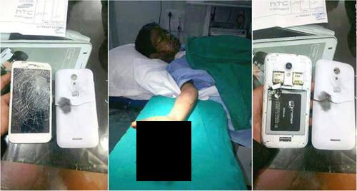 cell phone charging explosion and injury