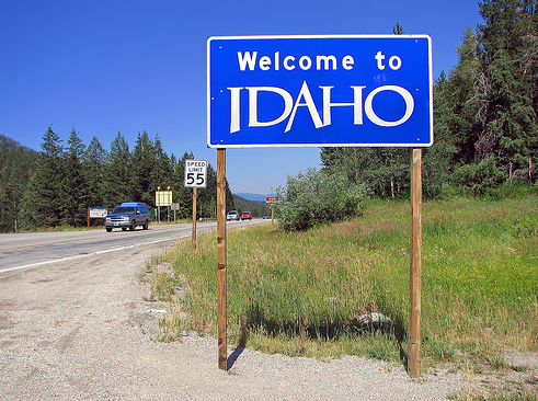 welcome to idaho real sign