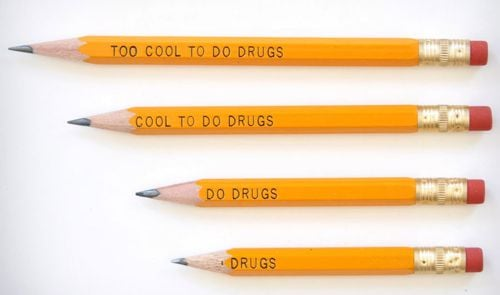 Too Cool to do Drugs Pencils