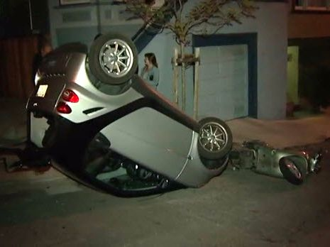 Smart Car Tipping San Francisco
