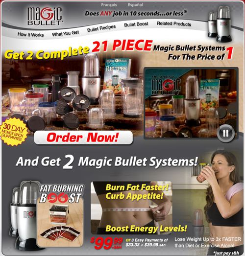 Magic Bullet website screenshot