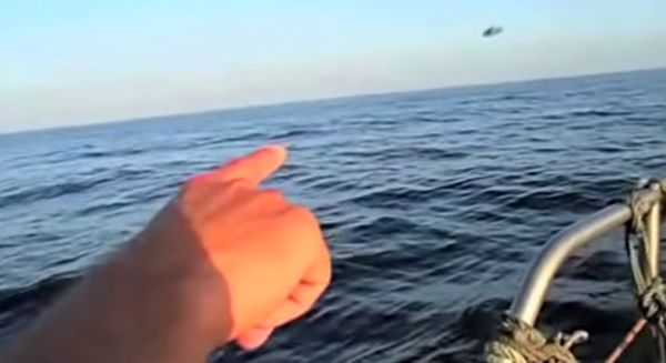 Spanish Fisherman points out UFO?