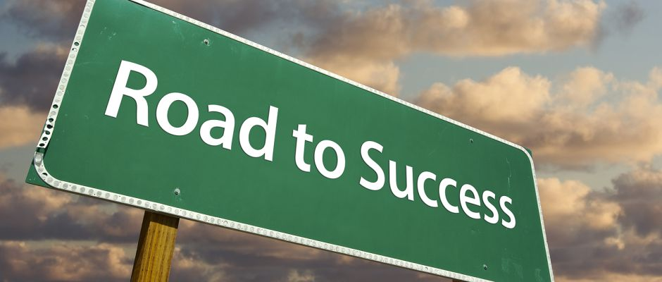 Road to Success Sign