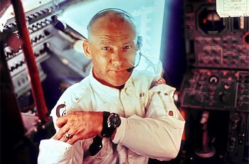 buzz aldrin in space suit
