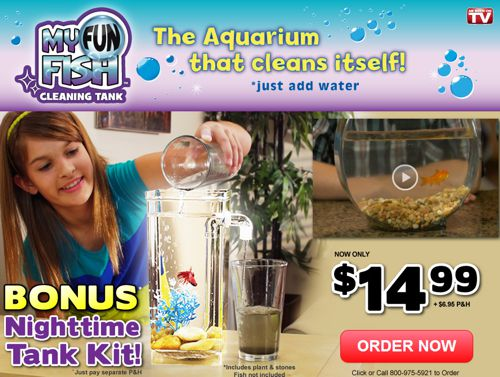 Review does my fun fish tank work mar 2015 update for How do you clean a fish tank