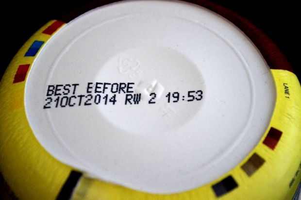 expired food label