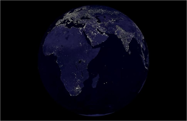 earth in darkness