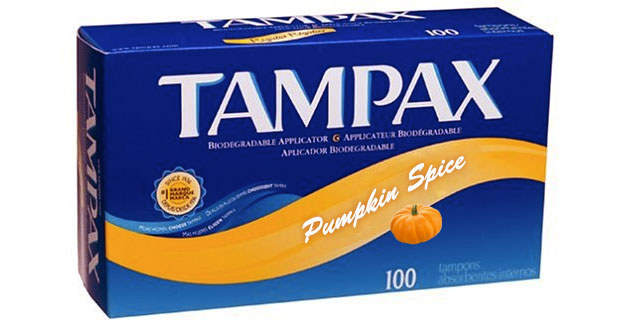 pumpkin spice tampons hoax