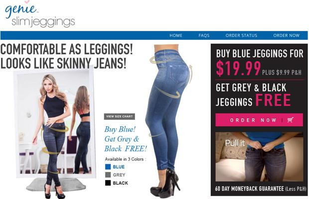 Genie Slim Jeggings Website
