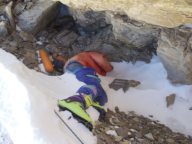 Body of Tsewangg Paljor on Mt. Everest