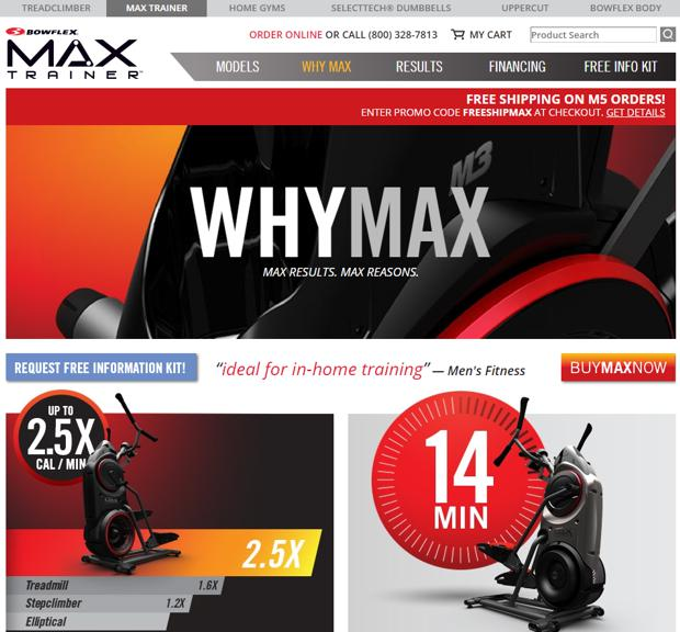 bowflex max trainer website
