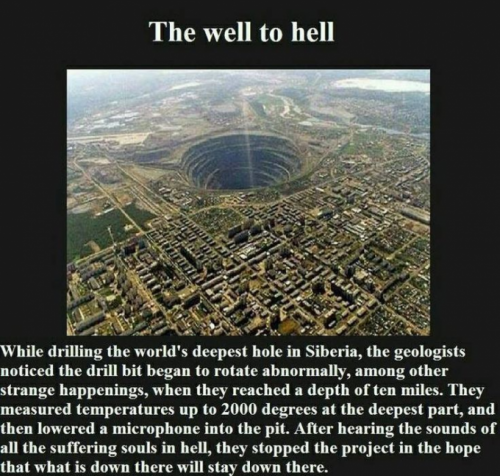 """Well to Hell"" graphic"