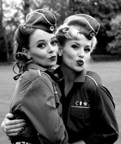 wwii duck face black and white
