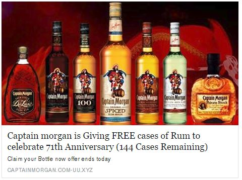 fake capt morgan giveaway