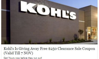 fake kohls giveaway