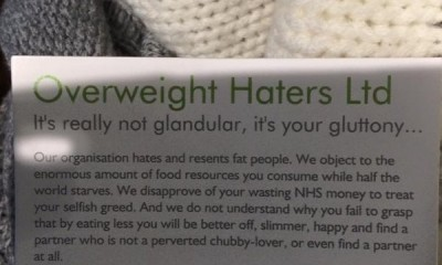 overweight haters card
