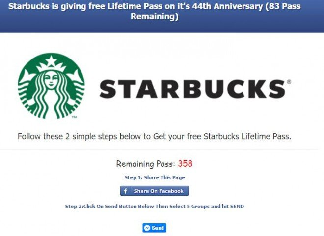 starbucks survey scam