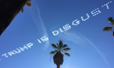trump skywriting