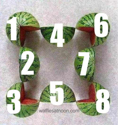 5 watermelons