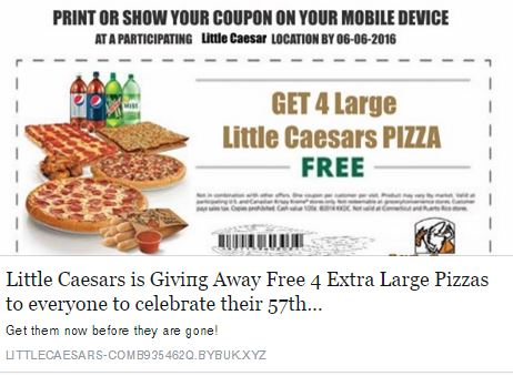 Dont Share The Fake Little Caesars Free Pizza Coupon
