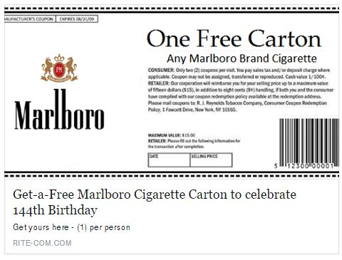 Free cigarette coupons by mail 2018