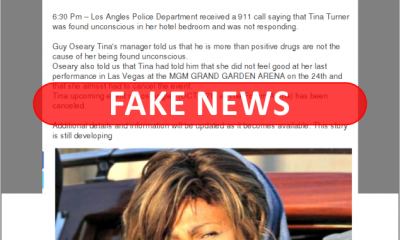 tina turner hospitalized