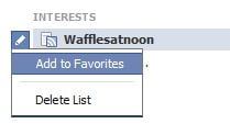 Add to Favorites on Facebook