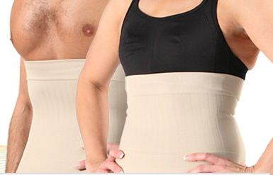 Man and woman wearing Slimming Belts