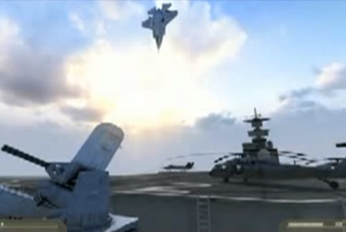 Still from F35 Takeoff and Flip Video