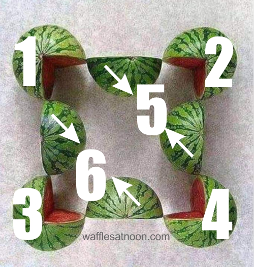 6 watermelons