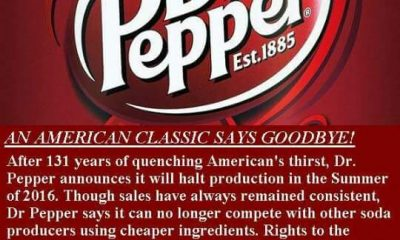 dr pepper discontinued